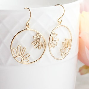 Floral Drop Earrings in Ivory \u01c0 Statement Polymer Clay Earrings \u01c0 Gifts for Her