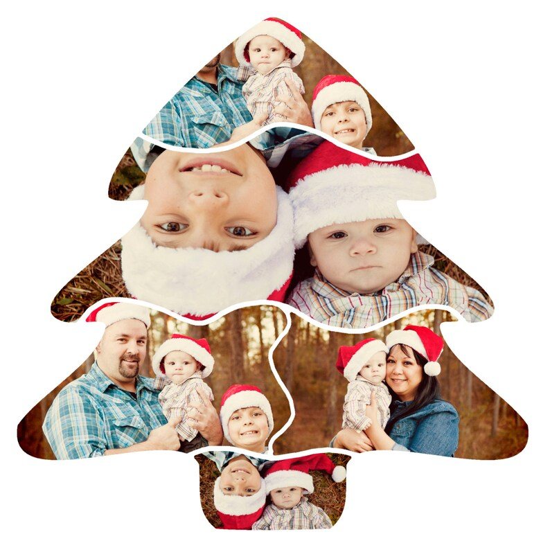 Christmas Tree Collage Template 20x20 square CS & Elements ...