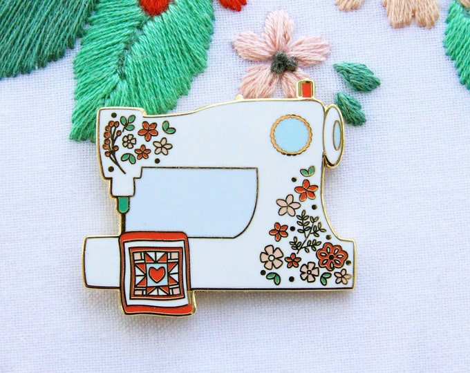 Floral Sewing Machine - Magnetic Embroidery Needle Minder