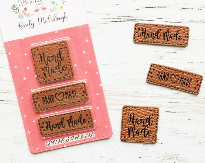 Leather Hand Made Label Set