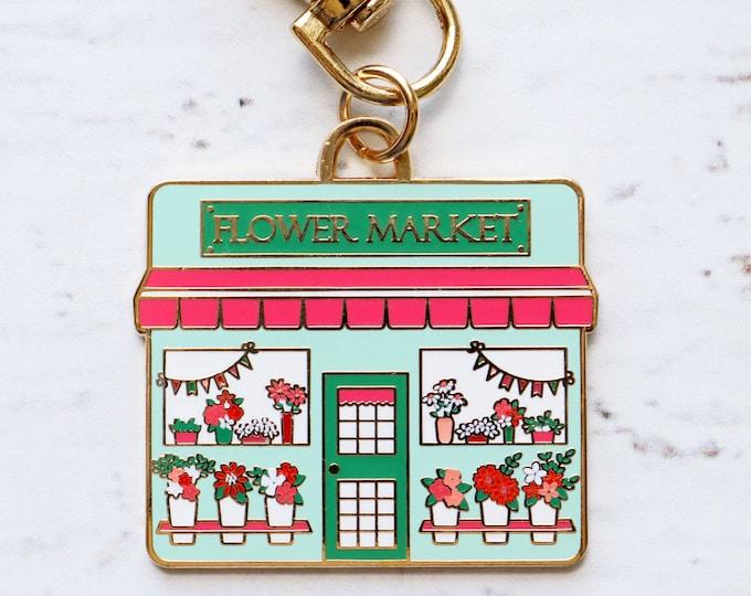 Flower Market Main Street Enamel Charm