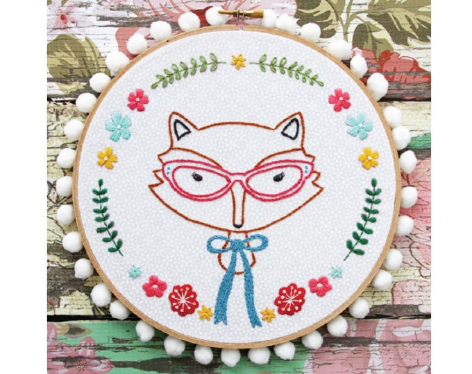 Fox Portrait PDF Embroidery Pattern