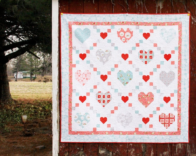 Hearts and Kisses PDF Quilt Pattern