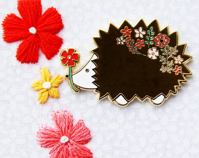Floral Hedgehog - Magnetic Embroidery Needle Minder