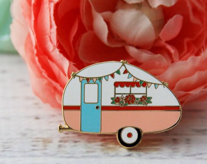 ENAMEL PIN - Floral Vintage Camper