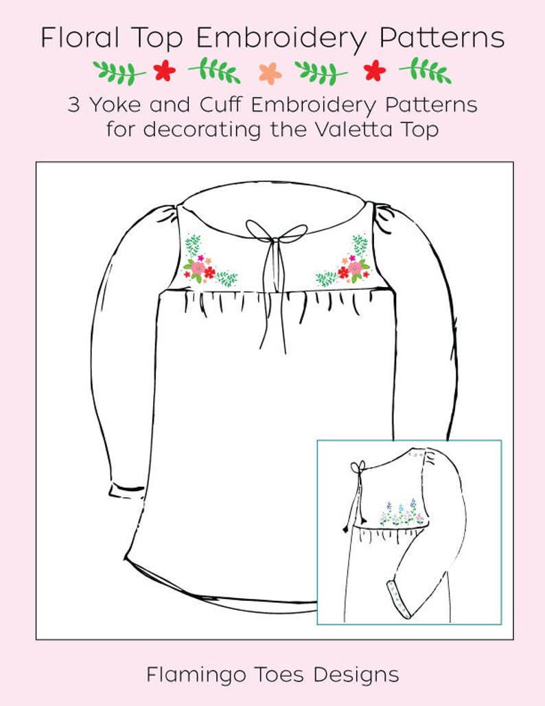 Floral Blouse Embroidery Patterns image 0