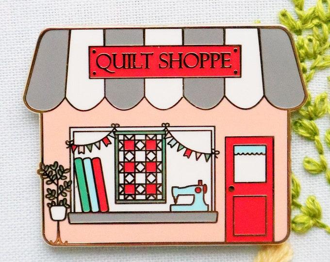 Quilt Shoppe Main Street Magnetic Needle Minder