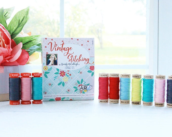 Vintage Stitching Aurifil Thread and Floss Collection