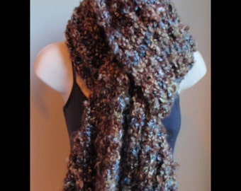 Super Thick Chunky Knitted Scarf in Rocky Mountain Free shipping in USA