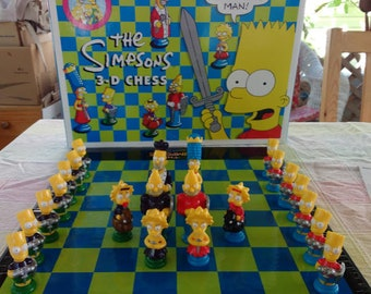 The Simpsons Chess Set 2001 Replacement Pieces Homer Lisa Marge Maggie Bart