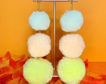 Pastel Candy Corn Earrings