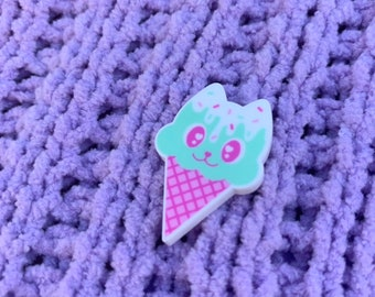 Melty Kitty Pin Or Ring