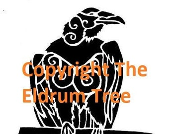 Crow and Raven Cut Your Own Stencil Pack - Three Designs by the Eldrum Tree