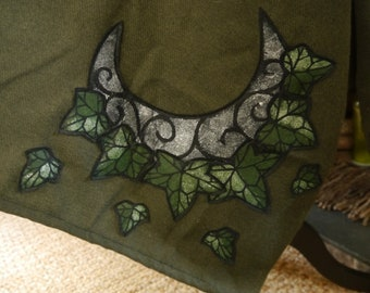 Commission A Wrap With Woodland Creatures, Leaves Etc OOAK Pagan Xmas Gift