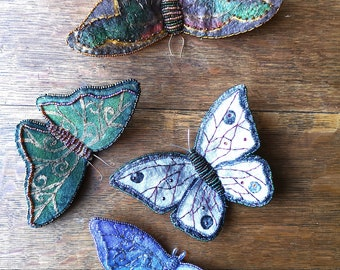 Enchanting Butterfly Tutorial - Make your own beautiful beaded and embroidered decorations!