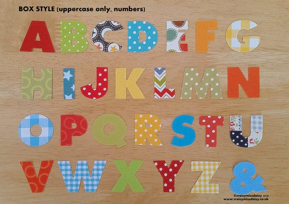 Iron on fabric Applique Letters and Numbers 4-5 cm 7, Black
