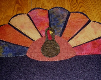 Gobblers Roost Felted Wool Penny Rug