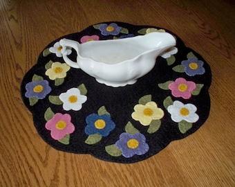 Flower Garden Penny Rug