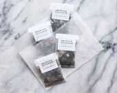 organic loose leaf tea sampler // choose 4 blends