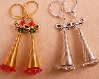 Christmas Earrings Christmas Jewelry Swarovski Jewelry Swarovski Earrings Christmas Tree Holiday Jewelry Beaded Jewelry