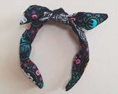 Star wars sugar skull halloween knotty bow alice head band rockabilly summer coco