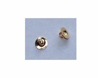 8pc 25mm Coffee Cream Hurricane Swirl Pattern Loop Back Button 0044