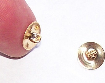 doz pack 10mm Gold Button Shank Button Back blank button supply jewelry finding turn any flat back  cabochon into a ooak button 456x