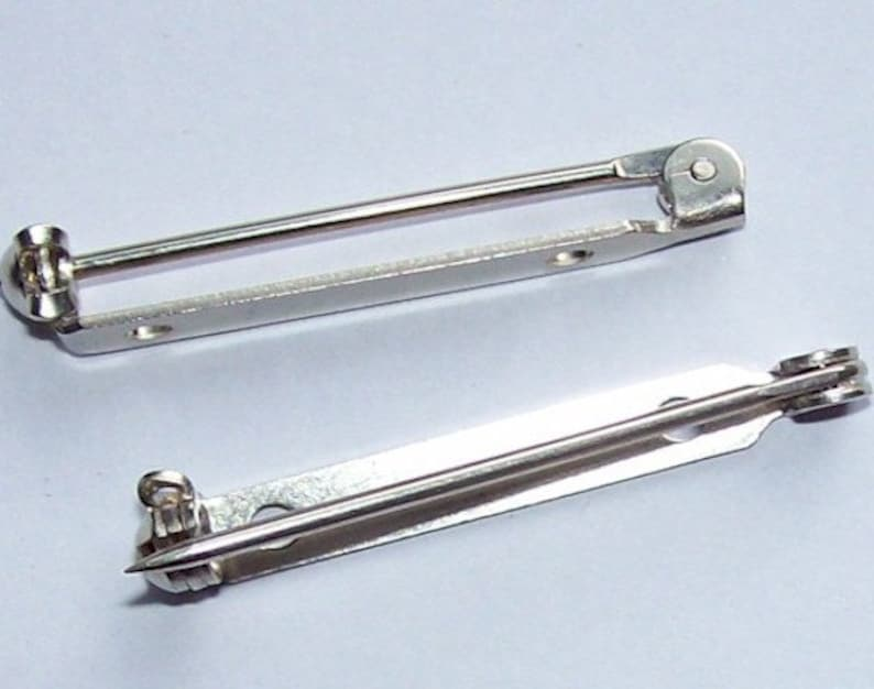 d952a1e8b2bb3 1.5 inch Superior Solid Nickel (1pc) Made In USA Bar Pin Brooch Pin 715x