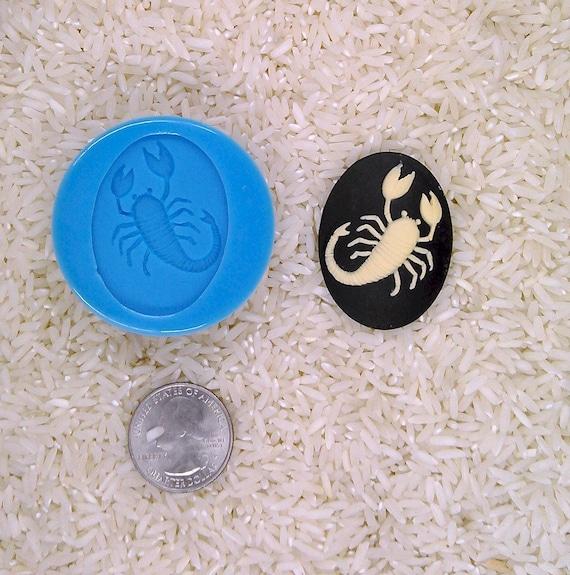Capricorn Zodiac Cameo SILICONE MOULD Cupcake polymer clay chocolate resin fimo