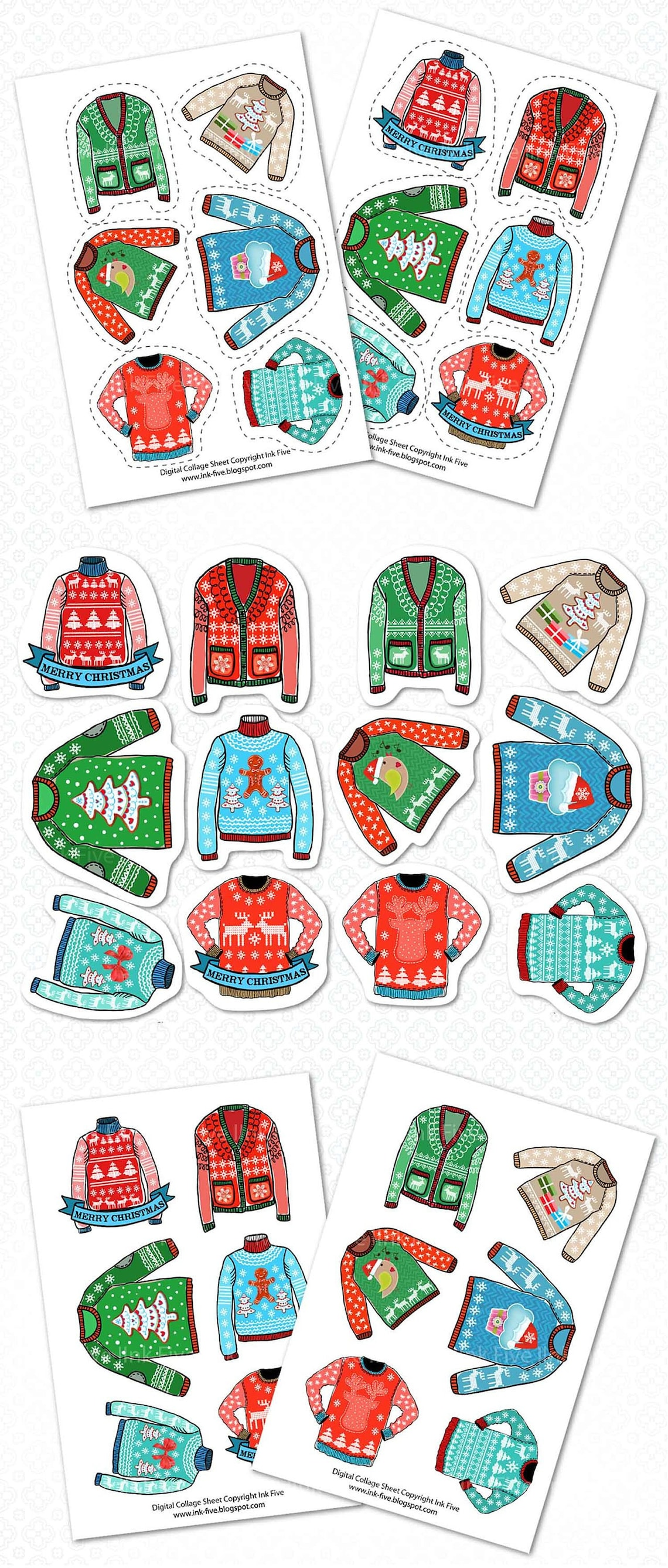 Christmas printable stickers
