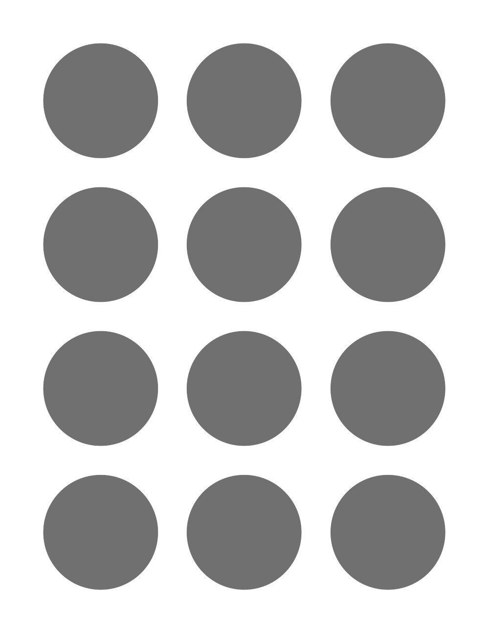 Psd Template 12 Circles 2 Inch Diameter Etsy