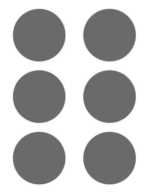 Psd Template 6 Circles 3 Inch Diameter