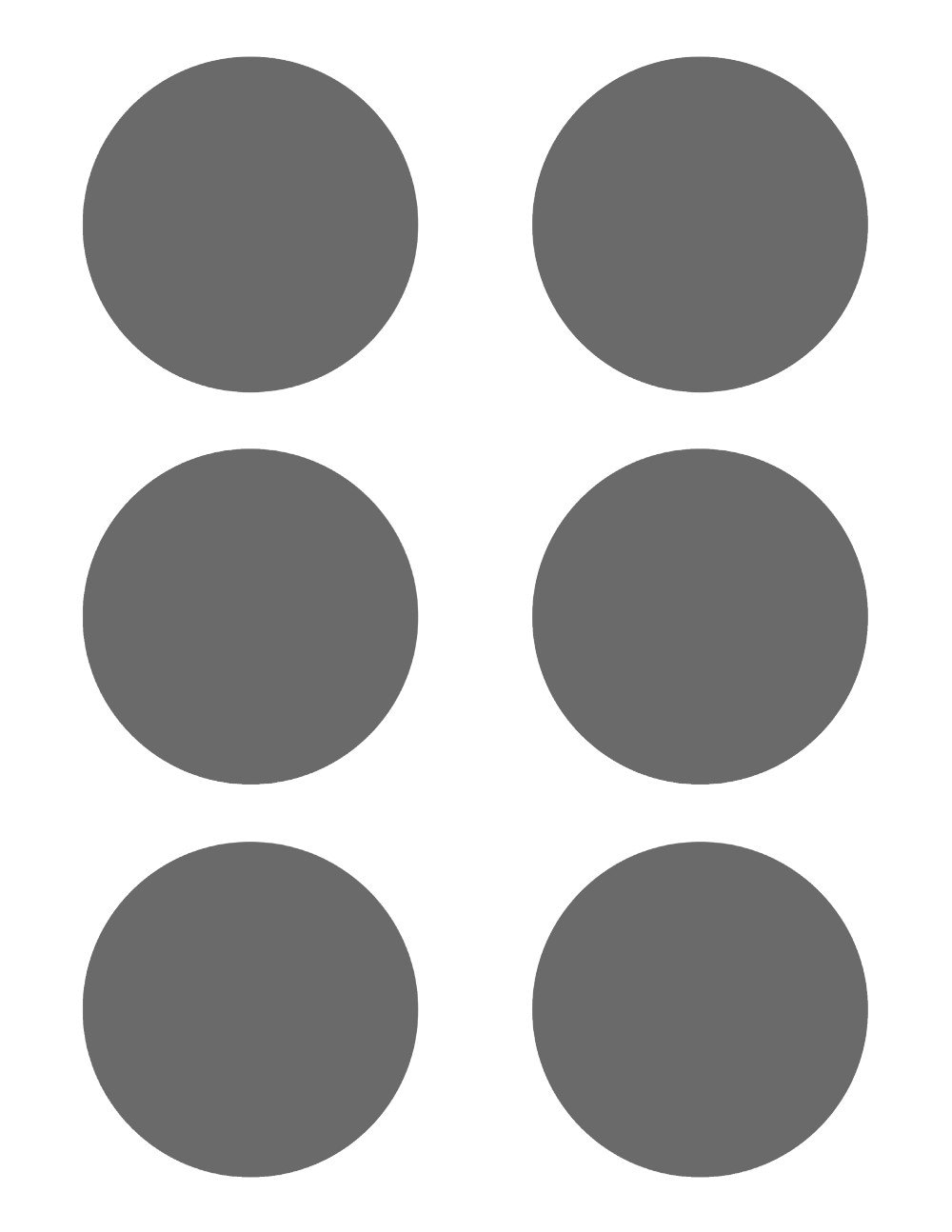 Plantilla PSD 6 círculos 3 pulgadas de diámetro