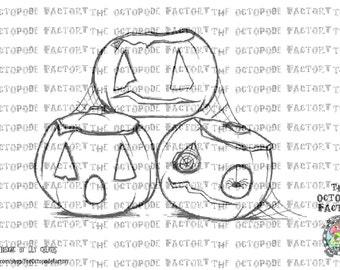 INSTANT DOWNLOAD Gloomsville Pumpkin stack