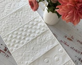 Made-to-Order Whole Cloth Quilted Table Runner Sampler Quilted Runner