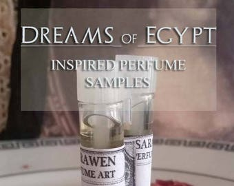 DREAMS OF EGYPT inspired by Ancient Egypt Perfume Oil Samples / Vegan perfume oil / Handcrafted perfume
