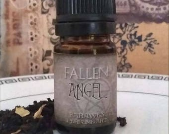 FALLEN ANGEL Gothic Perfume Oil / Gothic scent cologne oil / vegan handcrafted perfume / Gothic angel