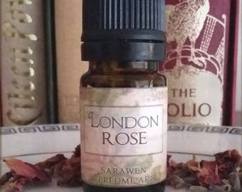 LONDON ROSE Rose Neroli Tea Perfume / Victorian inspired Vegan perfume Oil / Rose scent