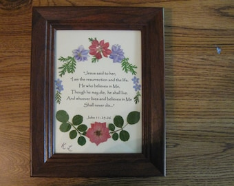 Flower Picture for Memorial Gift  (Example)
