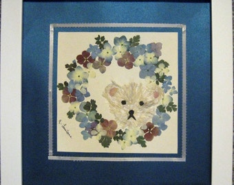 Pressed Flower Teddy Bear Picture