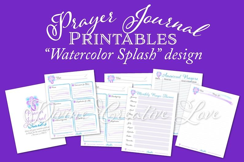 Prayer Journal Printables Prayer Journal Kit for Women image 0