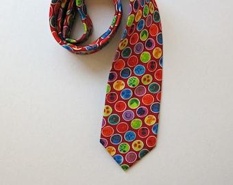 Red Petri Dishes Silk Tie - Science Necktie - Microbiology Tie