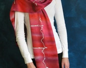 Heartbeat Silk Charmeuse Scarf - ekg pattern