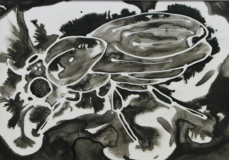 Drosophila Melanogaster 18: Ink painting on Yupo poly paper image 0