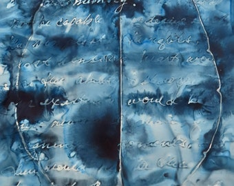 Without Memory: Original ink painting on yupo of brain - neuroscience art literature Sebald