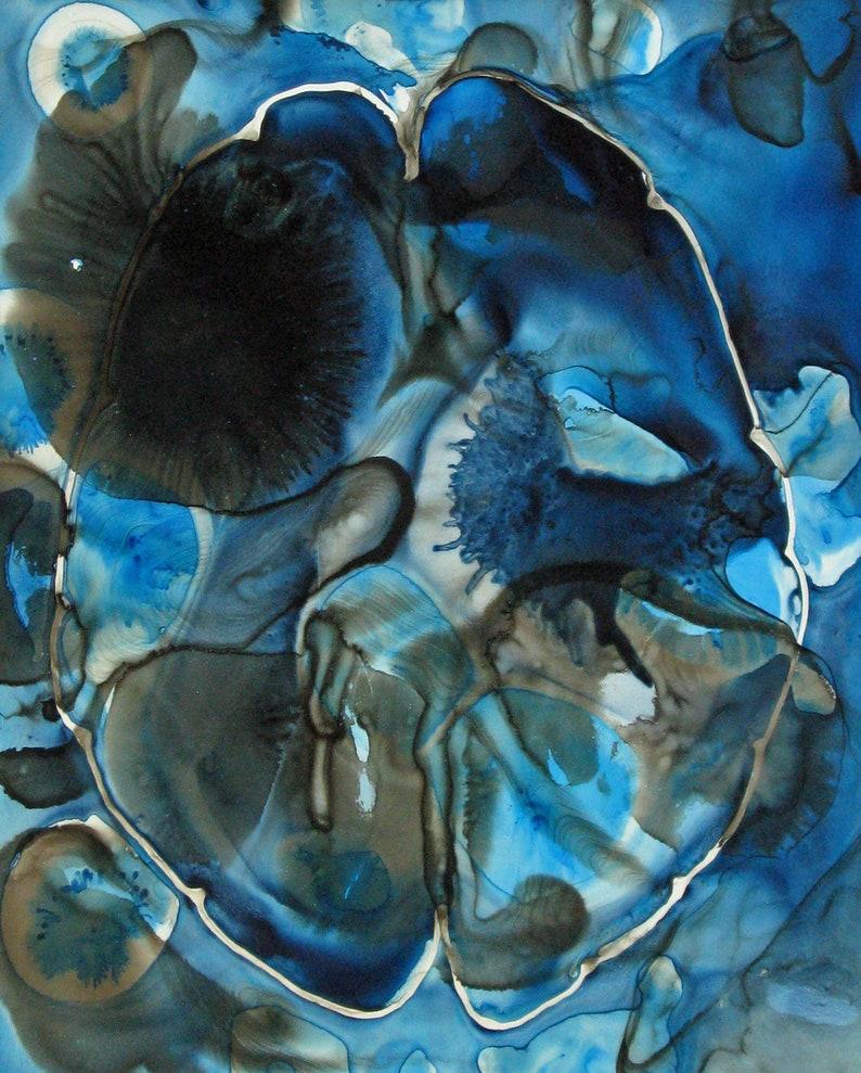 Shadows on the Brain    original ink painting on yupo  image 0