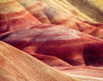 With a Brush-  8x12 Photograph  Painted Hills, OR