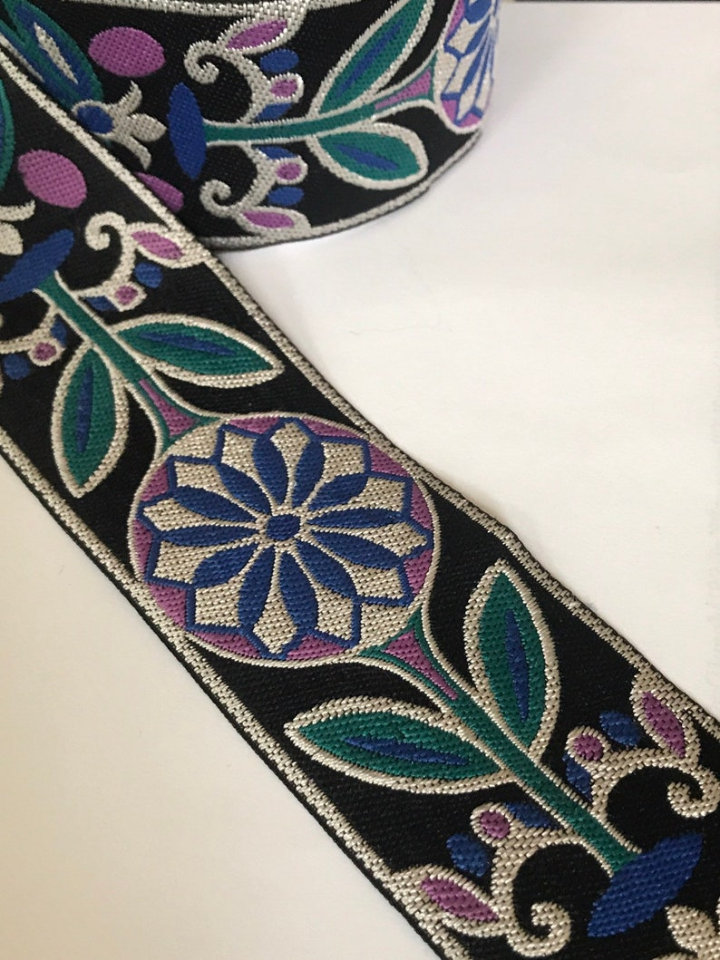 2 Floral Medallion Sewing Trim By The Yard image 0
