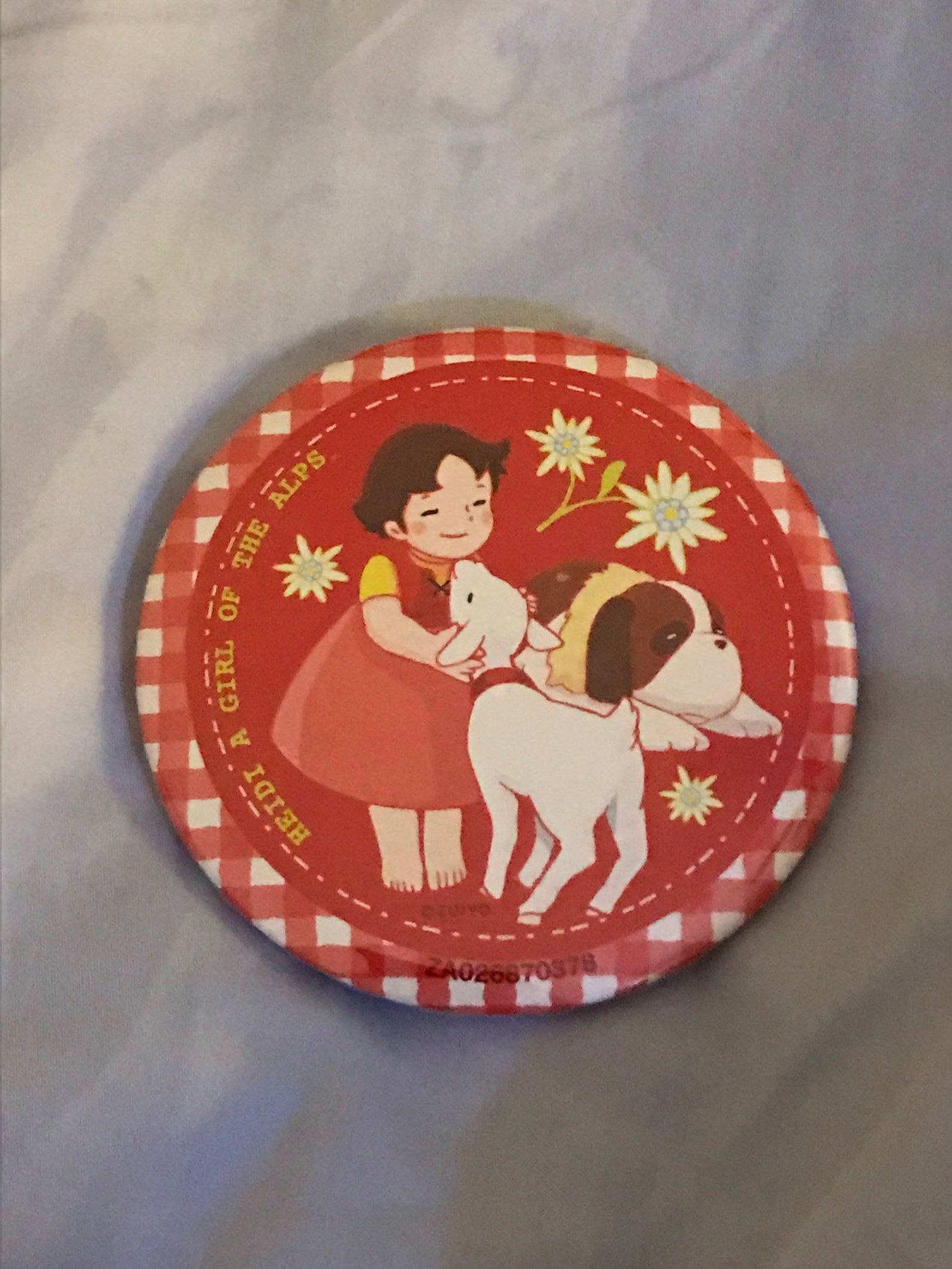 Heidi A Girl of the alps Pinback button from Japan