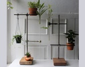 ONE Large Lab Stand Industrial Style Plant Stand w Long Glass Test Tube Propagation Vase Vintage Modern Plant Display 25 quot Qty RTS